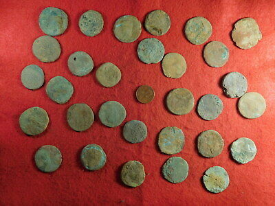 30 Uncleaned Ancient Coins (primarily Roman) (TT25)