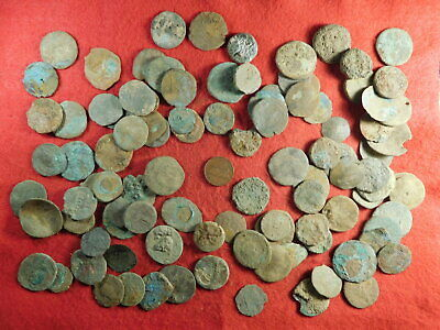 100 Uncleaned Ancient Coins (primarily Roman) (TT24)