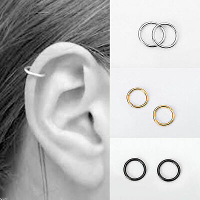 Stainless Steel Piercing Hoop Earring Helix Nose Ear Ring Cartilage Cool S8V3
