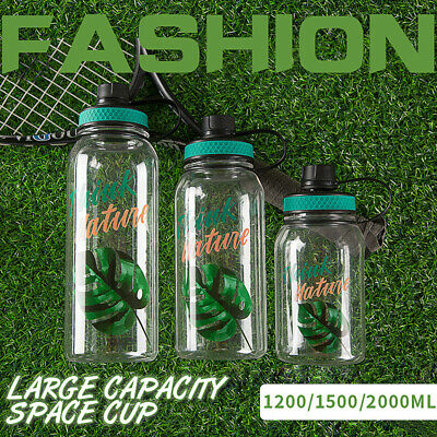 1200//1500//2000ML Large Capacity Plastic Space Sports Kettle Hand Cup