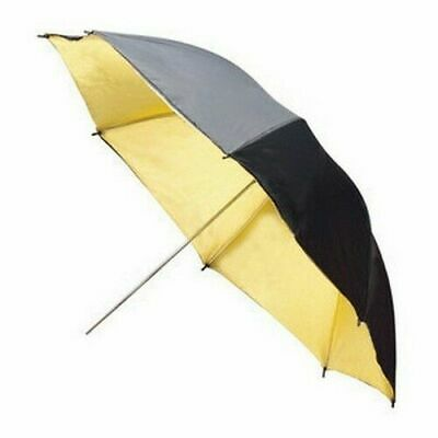 33'' 83cm Black Gold Photo Studio Flash Light Reflector Umbrella Photography