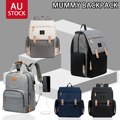 Multifunctional Waterproof Baby Diaper Nappy Backpack Mummy Changing Bag New