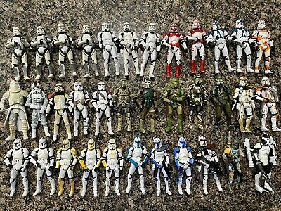 Star Wars 35 Clone Trooper Action Figure Lot w/ Weapons (loose) 3.75""