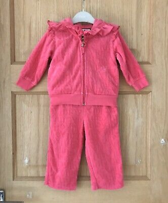 JUICY COUTURE DESIGNER *6-12m BABY GIRLS JACKET JOGGERS OUTFIT AGE 6-12 MONTHS