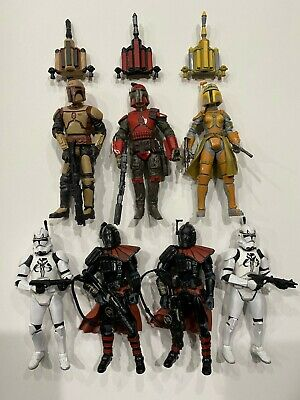 """Star Wars Mandalorians and Clone Troopers Multi-Pack Action Figures 3.75""""(loose)"""