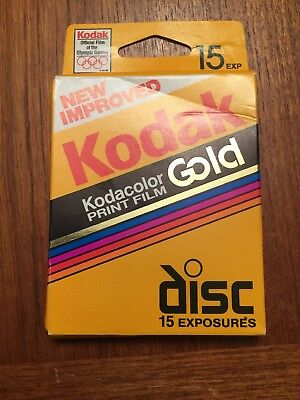 New Improved Kodak Kodacolor Gold Disc Film 15 Exposures - Exp. 07/1996 (SEALED)