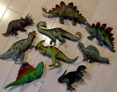 Lot Of 9 Dinosaur Toys - Realistic & Educational