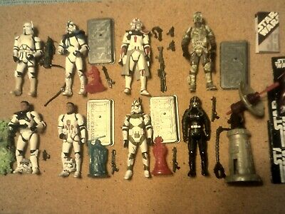 "Star Wars CLONE TROOPER Army Builder Lot of 8 Hasbro 3.75"" Figures Revenge Sith"