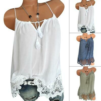 Women Summer Lace Camis Top Spaghetti Strap Hot Casual Top GDY7