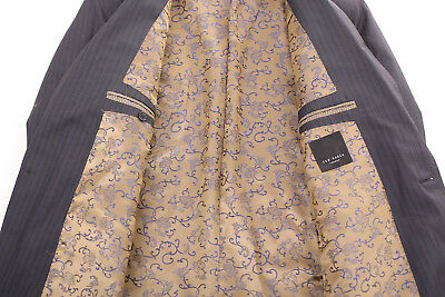 Ted Baker London Grey With Purple Pinstripe Men's Suit Jacket 42R Dry-Cleaned