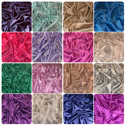Anti Static 100/% Polyester 53gsm Dress Lining Fabric High 150cm Satin Material