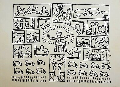 Keith Haring marker on paper