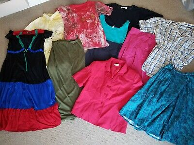 Vintage Clothes Job Lot Wholesale 10 Bulk Items Dresses Skirts Tops 70s 80s 90s