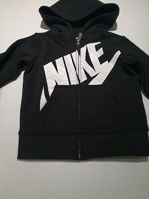 Girls Nike Hoodie Hooded Top Age 3-4 years Black With White and Glitter Logo