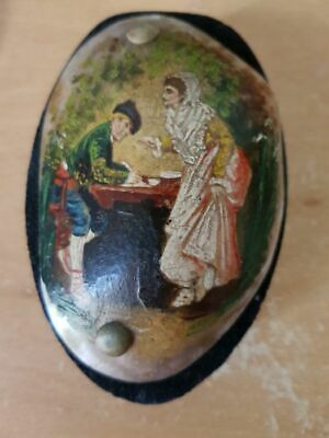 Painting - Napoleon's wife Josephine miniature - Bronze, mother-of-pearl - 19th