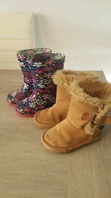 Next Girls Size 5 Boots Bundle Wellies Shoes