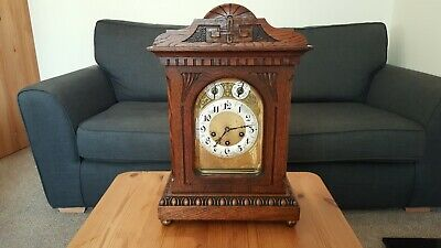 Antique Junghans 8 Day Carved Westminster Chime Bracket Clock full working order