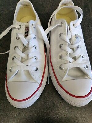 Converse All Star Low Classic Trainers for Women/Girls Size 1 White
