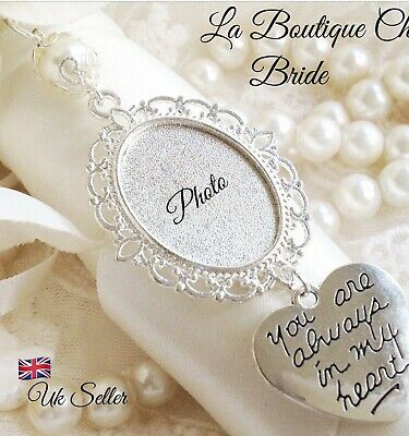 Lovely Bridal bouquet photo frame memory charm, wedding, bride ,gift memorial