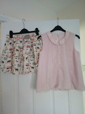 Girls outfit BNWT Next Skirt And George top 10-11 Years