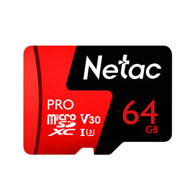 FLASH SALE!! Netac 64GB Micro TF SD SDXC 98MB/s UHS-I U3 Class 10 TF Card I5A0
