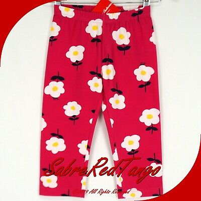 Nwt Hanna Andersson Livable Capri Leggings Pink Flower Floral Print 130 8
