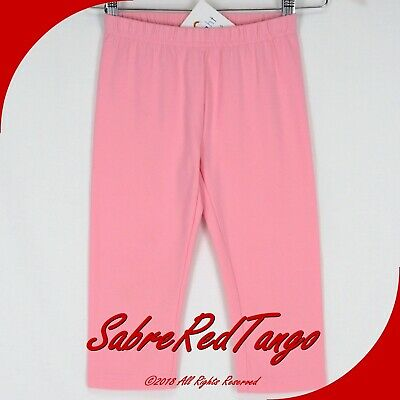 Nwt Hanna Andersson Classic Fit Bright Basics Capri Leggings Rose Pink 140 10