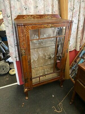 chinoiserie Vintage Chinese Glass Cabinet