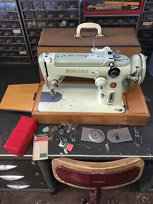 Singer 319K Zig Zag Industrial Electric Sewing Machine With Case And Extras