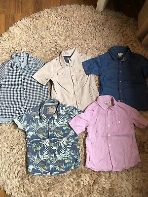 Boys Bundle Of 5 Next And River Island Shirts. All Size 2-3