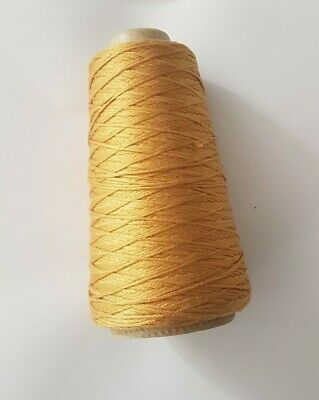 DMC Mouline Stranded Cotton Cone Colour Number 729 for Cross stitch