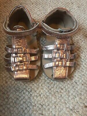 Baby Girl Rose Gold Sandals Size 5