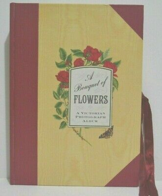 Bouquet of Flowers A Victorian Photograph Album Single Page Framed Photo Insert