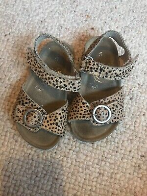 Next Baby Girl Lepoard Sandals Size 5