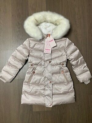 New Ted Baker Girls Padded Down Parka Jacket Coat Size 5-6 Years