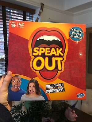 SPEAK OUT BOARD GAME PARTY MOUTH PIECE CHALLENGE FAMILY KIDS FUN - Brand New