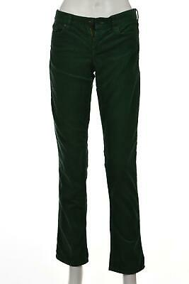 J Crew Matchstick Womens Pants Size 25 Green Corduroy Straight Leg Slacks Cotton