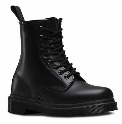 Dr Martens Mens 1460 Black Mono Smooth Leather 8 Eye Classic Boots