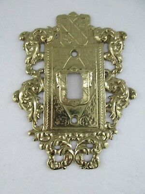 Virginia Metalcrafters 24-17 Brass Ornamental Single Light Switch Plate Cover