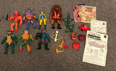 Vintage He Man Masters Of The Universe Figures. Mattel 1980's.