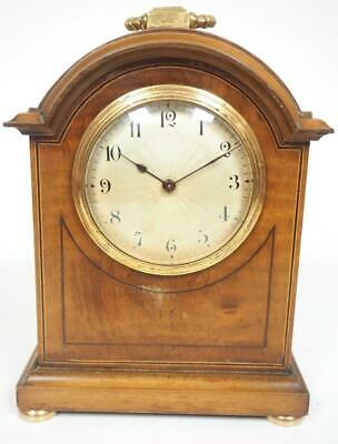 Walnut French 8 Day Mantel Clock Solid Burr Walnut Wood Arched Top Mantle Clock