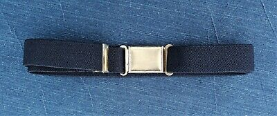 Children's Magnetic Buckle Belt Adjustable and Stretchable Elastic Navy Blue