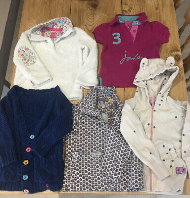 Joules Girls Bundle Cardigan Tops Jumpers - Age 4 to 5 Years