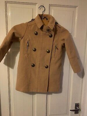 Girls Next Camel Beige Coat Smart Jacket Age 5 Hardly Worn Buttons Breasted