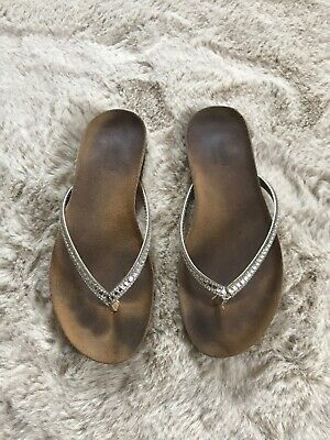 Monsoon Corked Flip Flops With Lots Of Sparkle Size 4