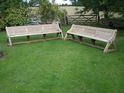Pair of Antique large Pine Benches