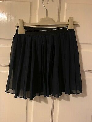 Girls Uniqlo Pleated Party Navy Tutu Tulle Skirt (Age 6 years)