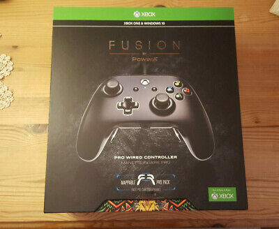 Fusion Pro Wired Controller For Xbox One & Windows 10 PC (Black), Brand New