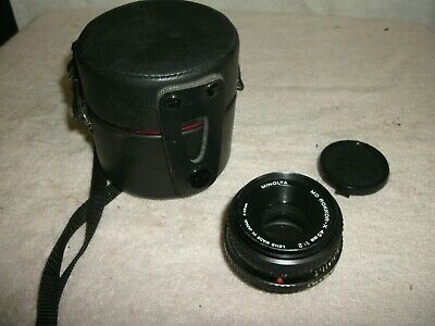 Minolta MD Rokkor-X 45mm 1:2 Pancake Style Camera Lens Made In Japan