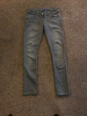 Immaculate Next Boys Grey  Denim Skinny Jeans 15 Years